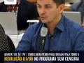 Resolução 01/99 do CFP é tema do programa Sem Censura, com participação do conselheiro-secretário Pedro Paulo Bicalho