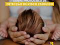 Mãe segurando bebê recém nascido nos braços para ilustrar a detecção de risco psíquico em crianças de 0 a 18 meses