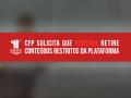 Tela do YouTube com uma tarja vermelha, onde se lê o título da matéria