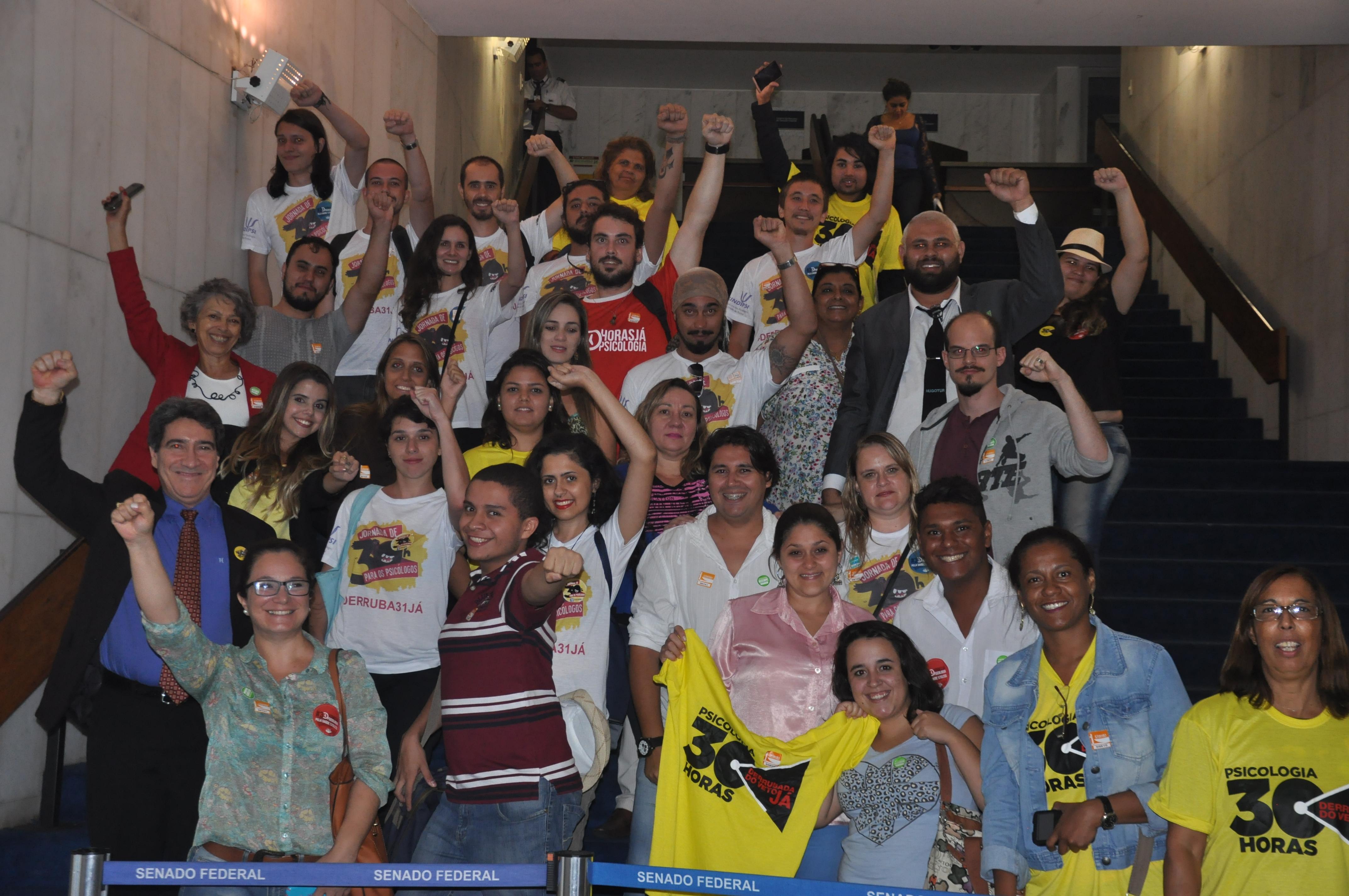 Mobilização de profissionais e estudantes em Brasília ampliaram apoios no Congresso
