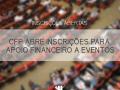 CFP abre inscrições para auxílio financeiro a eventos