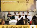 Mesa de debates do CFP sobre luta antimanicomial no Fórum Social Mundial