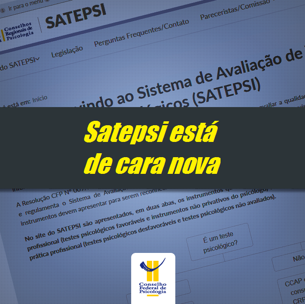 Site do Satepsi foi reformulado