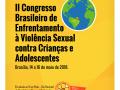 Imagem mostra cartaz do evento II Congresso Brasileiro de Enfrentamento à Violência Sexual contra Crianças e Adolescentes