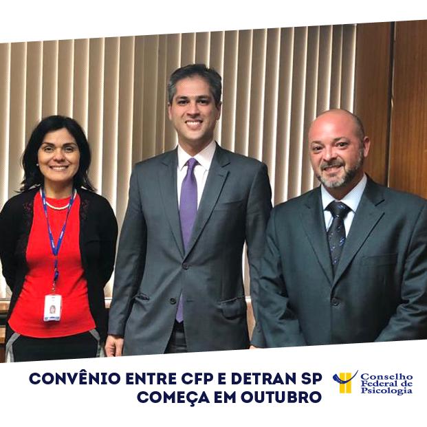 Na foto, representantes do DetranSP, CRP do Piauí e do CFP