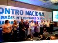 """Imagem mostra participantes do 9 Cistão com título da matéria abaixo: """"CFP participa de 9 Cisttao""""; e logo do CFP abaixo, à direita"""