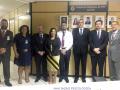 Na foto, conselheiro do CFP e representantes da PF