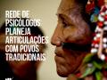 Imagem mostra representante de povos tradicionais com título da matéria inserido ao lado, à esquerda. Logo do CFP está na parte inferior da imagem, à esquerda