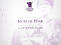 Nota de pesar com uma foto da psicóloga e conselheira do CFP Cleia Oliveira Cunha