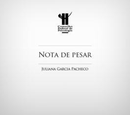 Nota de pesar - Juliana Pacheco