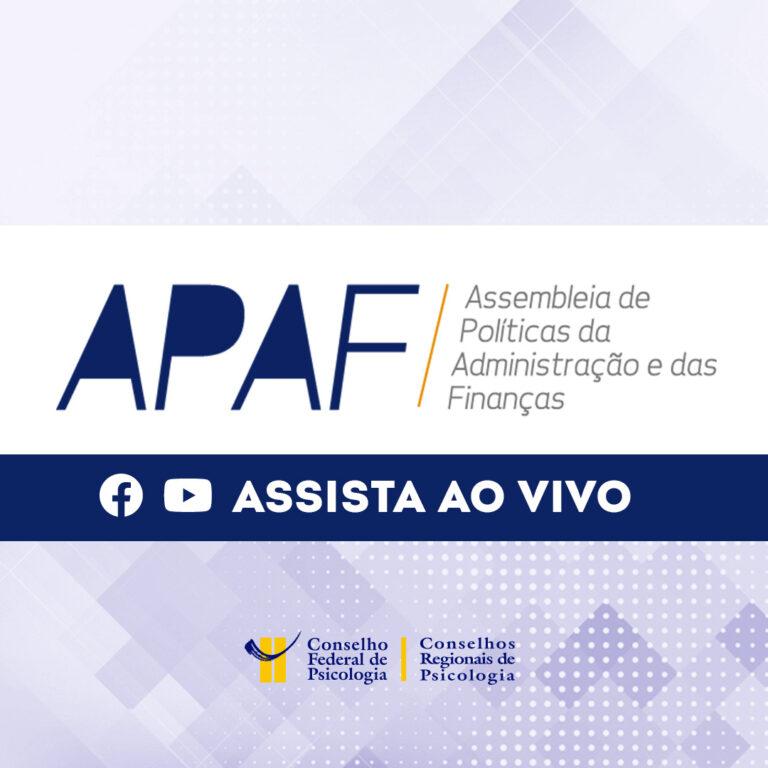Acompanhe ao vivo a APAF virtual de maio de 2021