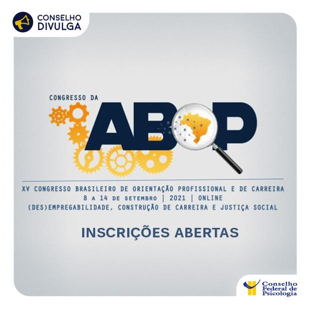 Inscrições abertas para o XV Congresso Brasileiro de Orientação Profissional e de Carreira